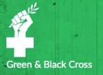 green and black cross
